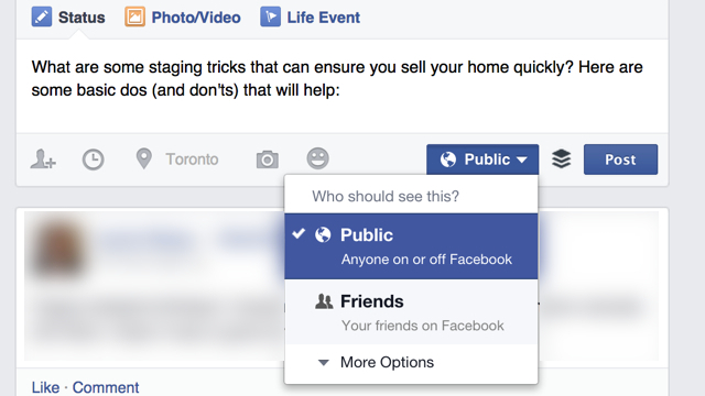 Do It In Public. Your Facebook Posting, That Is